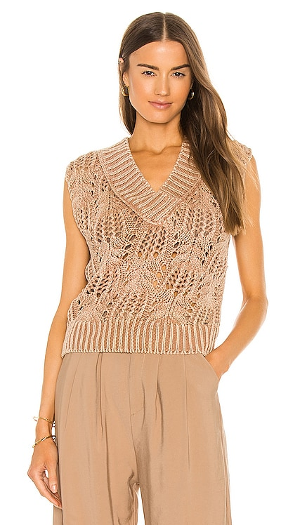 Orchid Pointelle Vest Free People $78 NEW