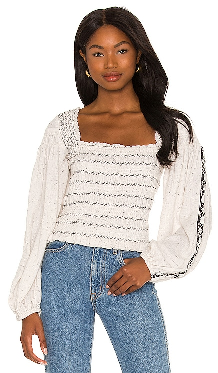 Maggie Embroidered Top Free People $148 NOUVEAU