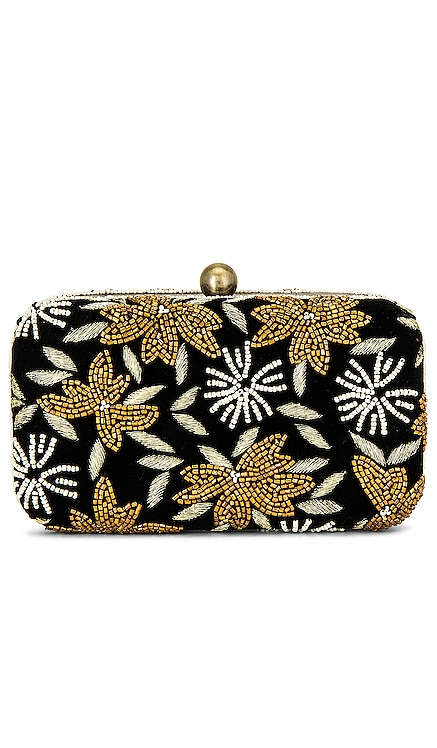 Velvet Flower Box Clutch From St Xavier $125 NEW
