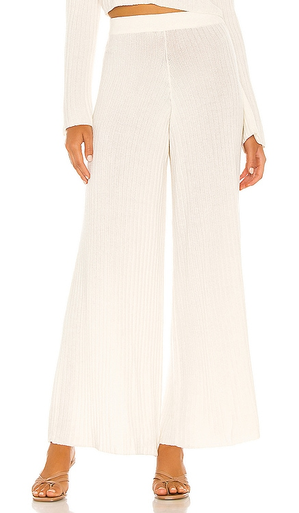 x REVOLVE Rib Knit Wide Leg Trouser Flook The Label $45 (FINAL SALE)
