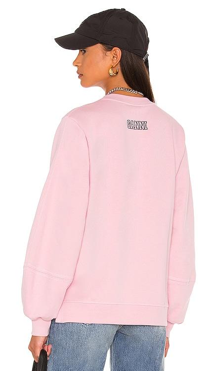 Puff Sleeve Sweatshirt Ganni $165 NEW