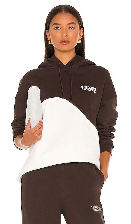 Oversized Wave Hoodie Ganni $215 NEW