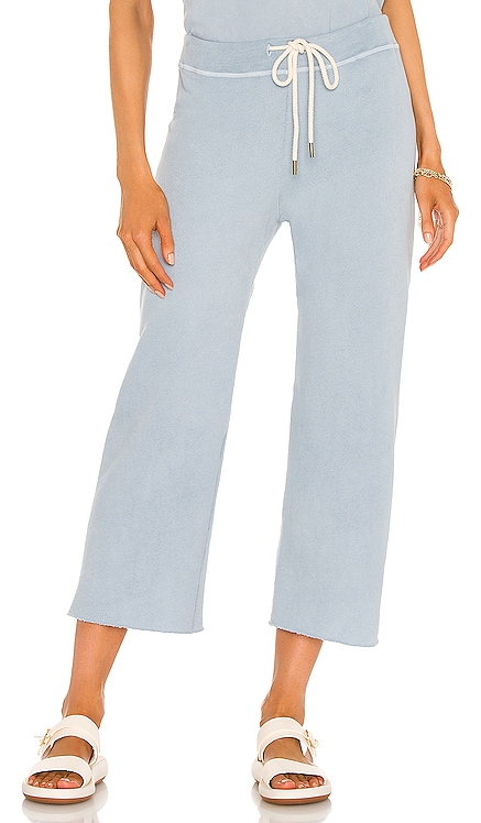 The Wide Leg Cropped Sweatpant The Great $165 NEW