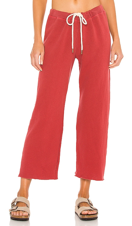 Wide Leg Cropped Sweatpant The Great $165