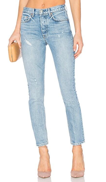KAROLINA 하이 라이즈 스키니진 GRLFRND $210 신상품