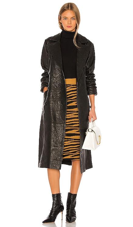 Lori Leather Trench Coat GRLFRND $699