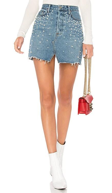 Milla Embellished A-Frame Skirt GRLFRND $113