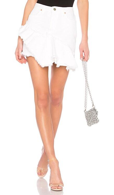 Giselle A-Line Ruffle Skirt GRLFRND $168