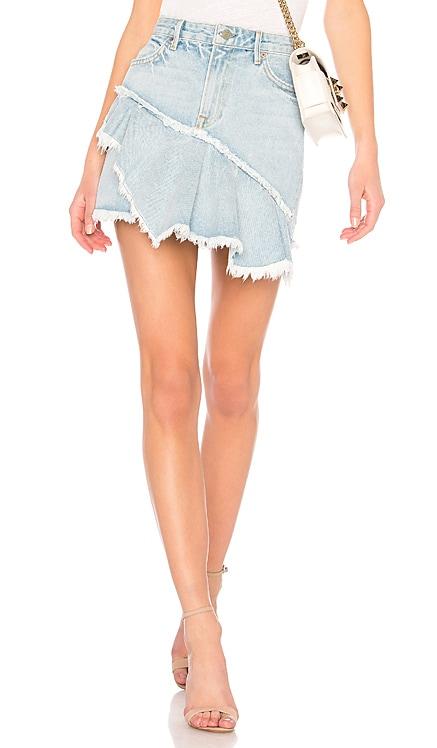 Giselle A-Line Ruffle Skirt GRLFRND $76