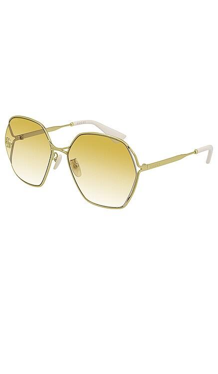 LUNETTES DE SOLEIL OVAL FORK Gucci $535 BEST SELLER