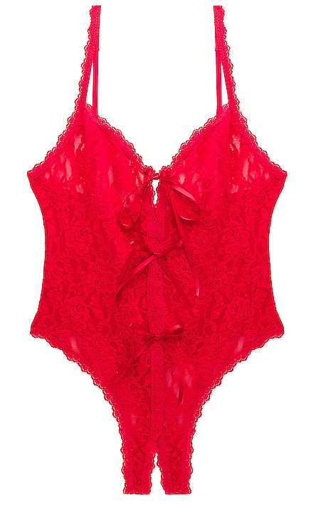 Racy Signature Lace Open Teddy Hanky Panky $78 BEST SELLER