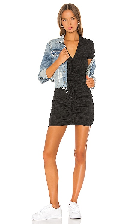 Shirred V Dress MONROW $148 BEST SELLER