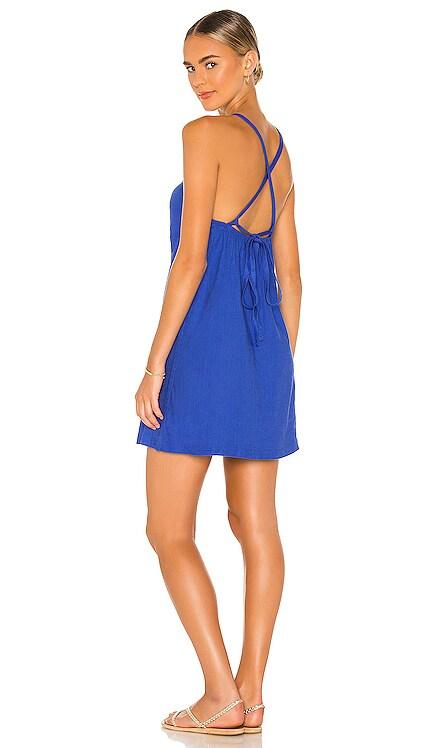 Linen Strappy Dress MONROW $95