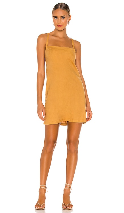 Linen Strappy Dress MONROW $135