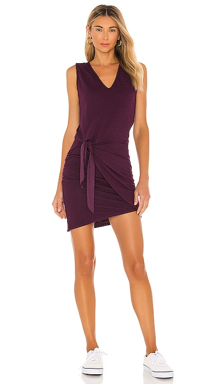 Supersoft Tank Dress With Tie MONROW $153 NEW