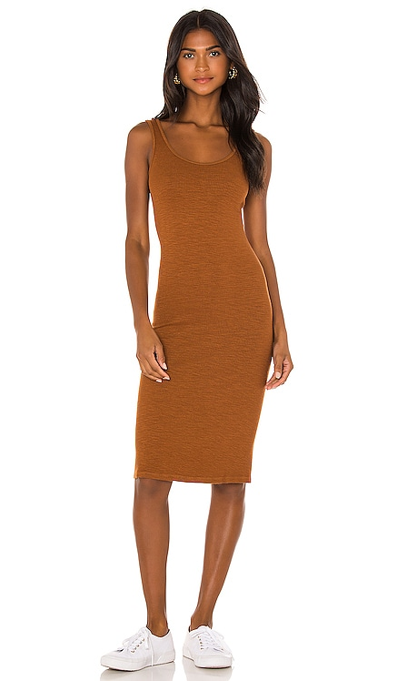 Supersoft Rib Tank Dress MONROW $155 NEW