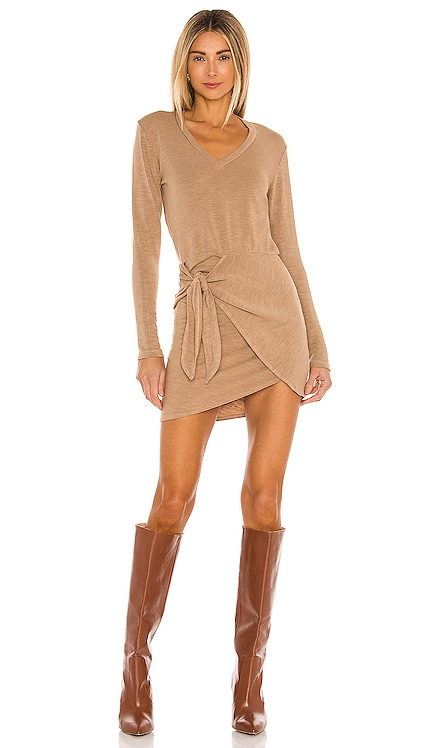 Supersoft Long Sleeve V Dress MONROW $167