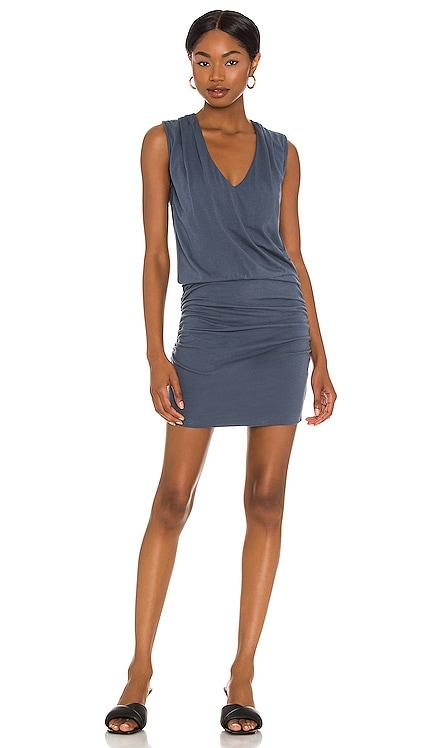 Tucked Shoulder Shirred Dress MONROW $148 BEST SELLER