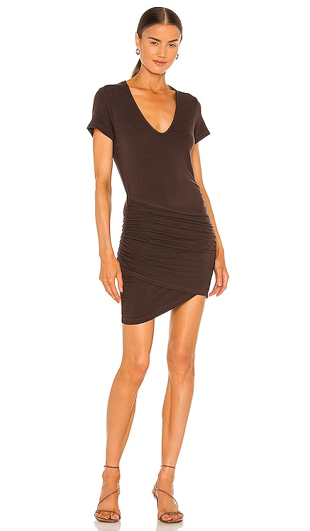 Supersoft Front Wrap Dress MONROW $162 NEW
