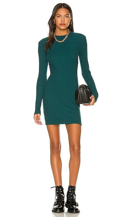 Brushed Thermal Long Sleeve Mock Neck Mini Dress MONROW $149