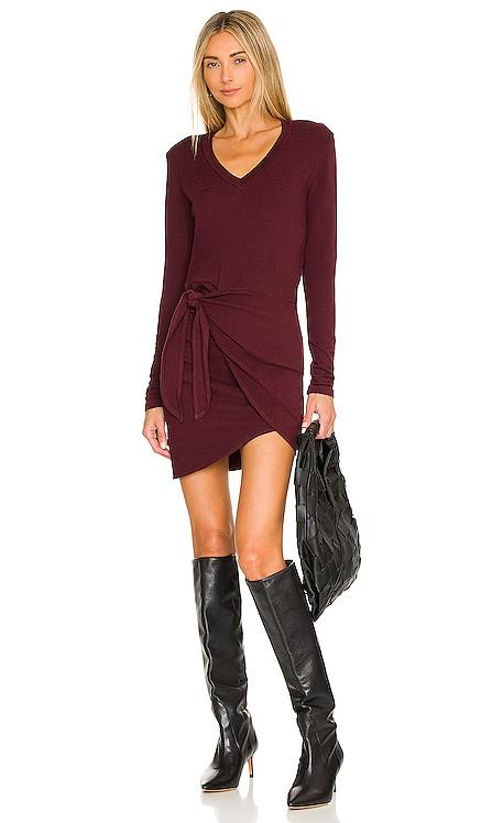 Supersoft Long Sleeve V Dress MONROW $167 NEW
