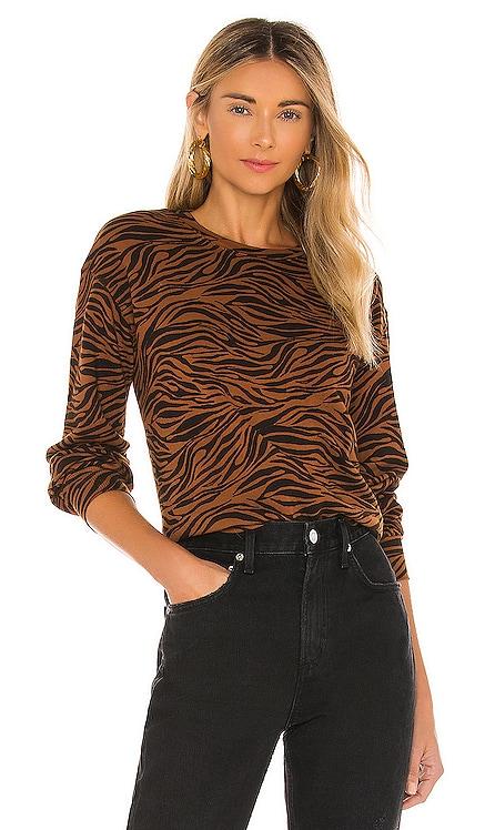 Zebra Full Sleeve Sweatshirt MONROW $142 NEW