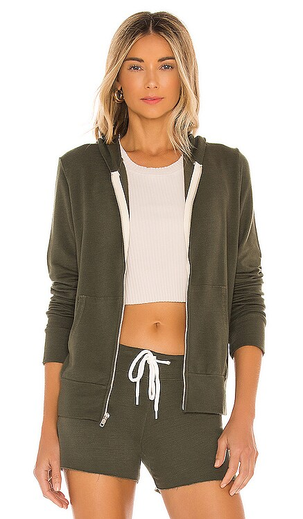 Supersoft Zip Up Hoodie MONROW $135 NEW