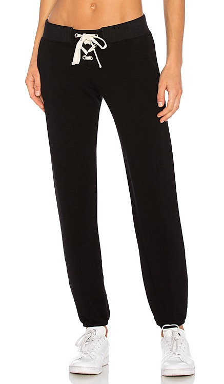 Supersoft Lace Up Sweats MONROW $153 BEST SELLER