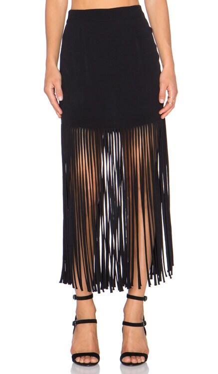 Fringe Maxi Skirt MONROW $76
