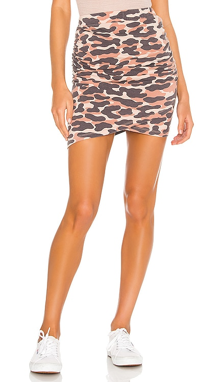 Animal Camo Skirt MONROW $98 NEW ARRIVAL