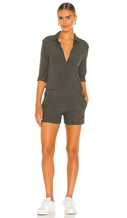 Zip Up Romper MONROW $137
