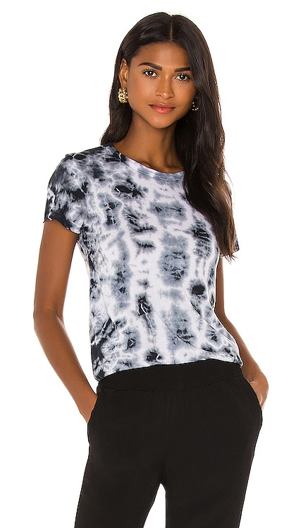 Crystal Tie Dye Fitted Crew Top MONROW $85