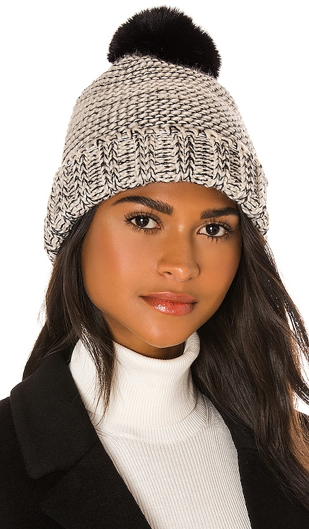 Frosty Faux Fur Pom Hat Hat Attack $70 NEW