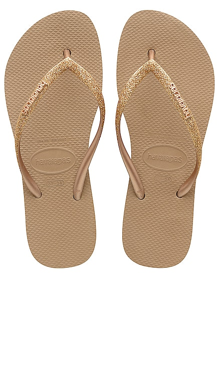 Slim Flatform Glitter Sandal Havaianas $38