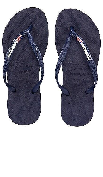 Slim USA Flip Flop Havaianas $28 NEW