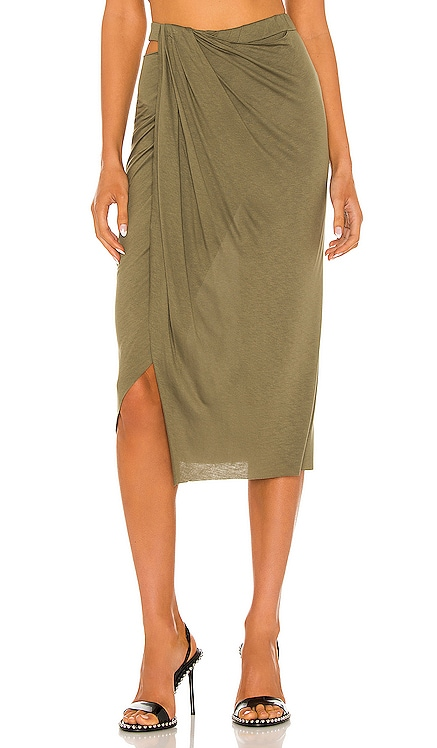 Ruched Jersey Skirt Helmut Lang $275 BEST SELLER
