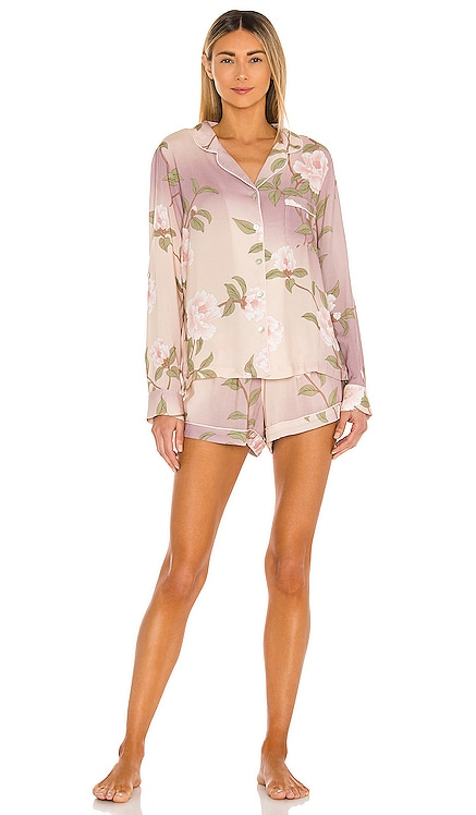 Nightfall Long Sleeve Short PJ Set homebodii $130