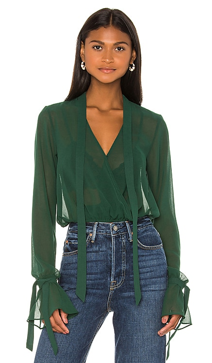 x REVOLVE Joli Tie Cuff Blouse House of Harlow 1960 $128 BEST SELLER