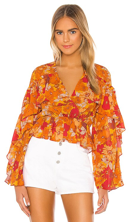 x REVOLVE Makana Blouse House of Harlow 1960 $168 NEW