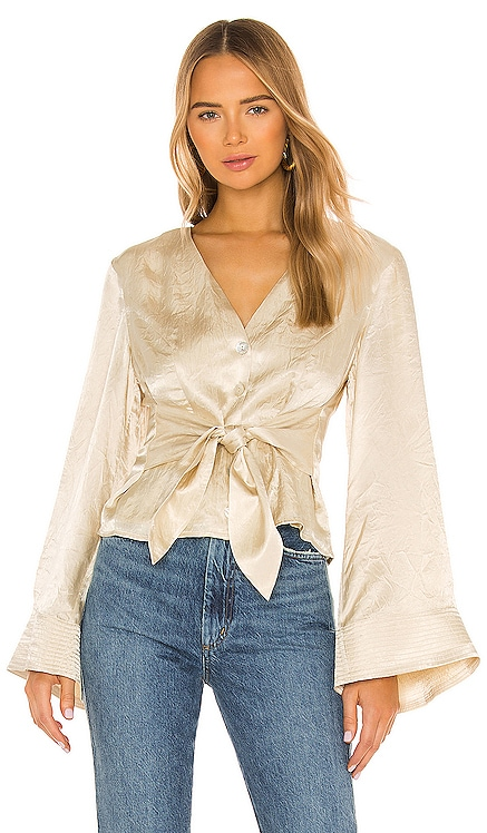 x REVOLVE Flared Sleeve Top House of Harlow 1960 $170