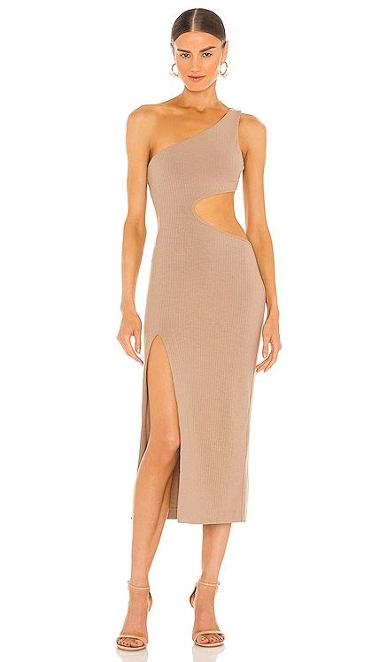 Almira Midi Dress h:ours $190 NEW