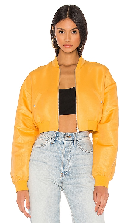 Sim Crop Bomber Jacket h:ours $125