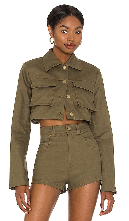 Union Cropped Jacket h:ours $188 NEW