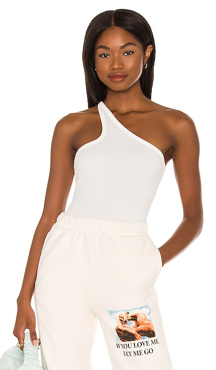 One Shoulder Bodysuit h:ours $122 NEW