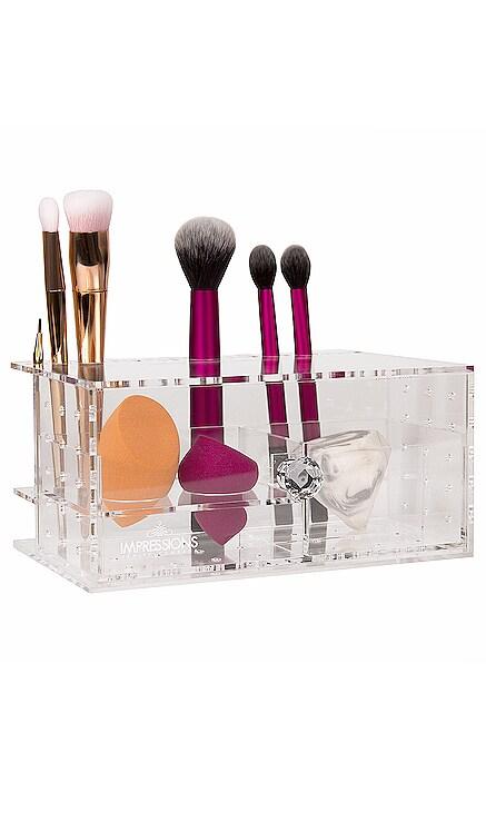 Diamond Collection Brush & Blend! Acrylic Organizer Impressions Vanity $49 NOUVEAU