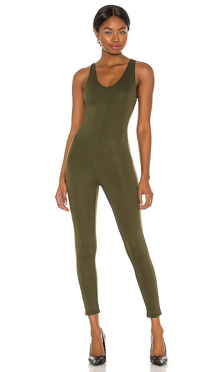 Solid Seamless Catsuit Indah $114