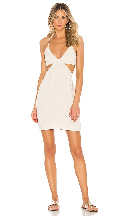 Robin Cutaway Mini Dress Indah $141