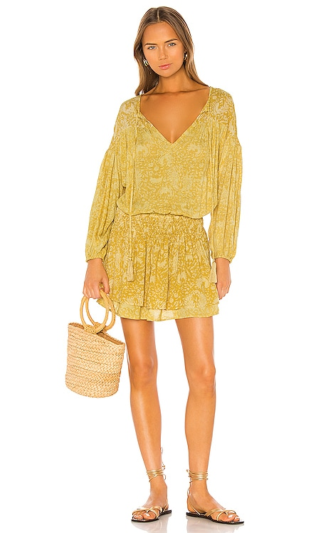 Sashi Printed Blouson Mini Dress Indah $133