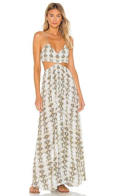 Innocence Smocked Bra Cutaway Maxi Dress Indah $172 BEST SELLER