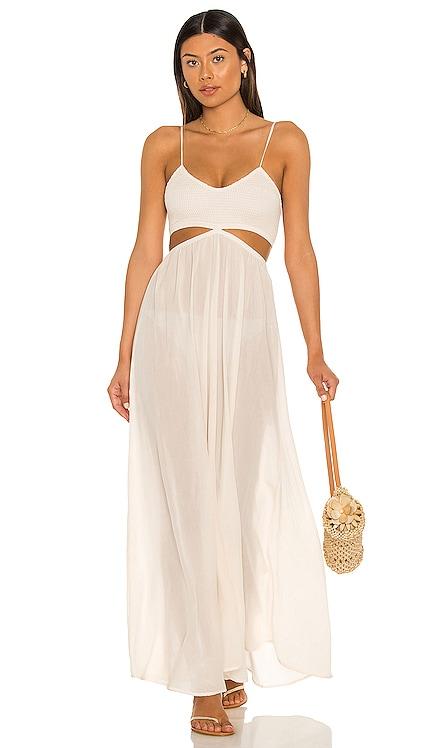 Innocence Solid Smocked Maxi Dress Indah $158 BEST SELLER